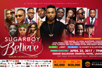 G-Worldwide Unveils Sugarboy Believe Album Launch Concert & Performing Artists