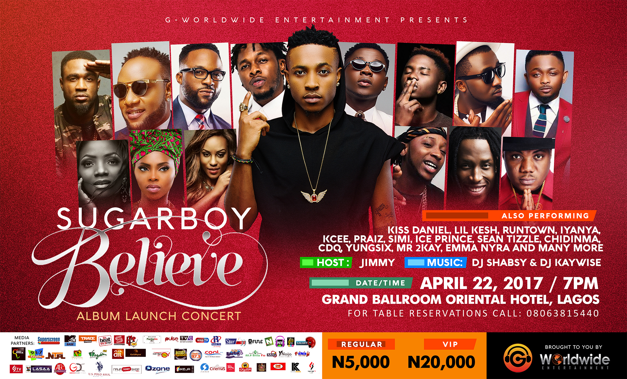 G-Worldwide Announces Sugarboy Believe Album Launch Concert & Performing Artists