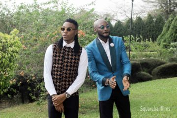 "Solidstar x 2Baba Dazzle On Set Of ""Nwa Baby"" Video [B-T-S Photos]"