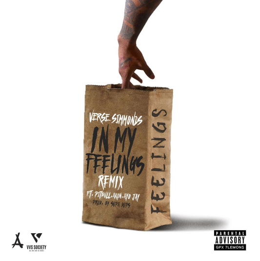 Verse Simmonds - In My Feelings (Remix) Ft. Akon, Pitbull & Ayo Jay