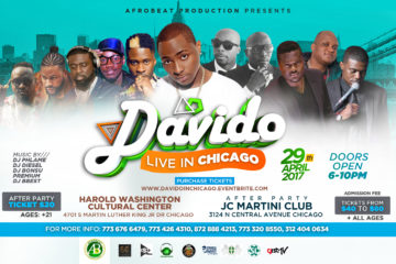 Davido Set To Perform LIVE In Chicago on 29th At The Afrobeat Productions Concert 2017
