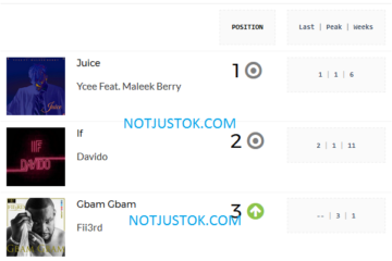 Juice by Ycee Remains Most Played Song For 2nd Week Running   PlayData Week 20