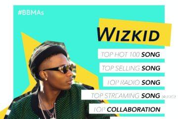 Wizkid Wins 3 Awards At The Billboard Music Awards 2017