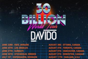 "Davido Announces ""30 Billion World Tour""!"