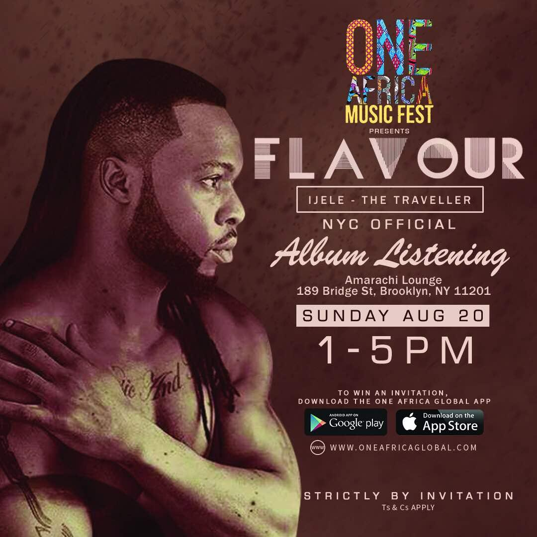 Flavour In New York Ahead Of One Africa Music Fest And