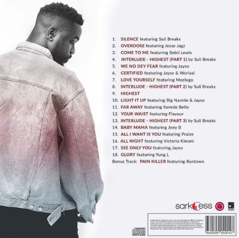 "Sarkodie Unveils Cover Art and Tracklist to 5th Studio Album""Highest"""