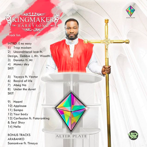 "Harrysong Unveils Artwork for ""King Maker"" Album"