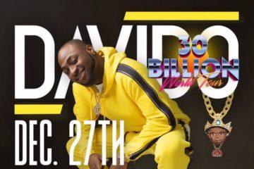 Davido Sets To Shut Down Lagos As He Concludes His 30 Billion World Tour