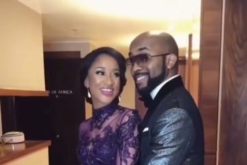 """This is Baad!"" Fans Come For Banky W As He Reveals Wife's Unclad Body"