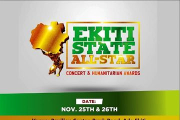 Scoop Concepts Media Unveils Ekiti State All Stars Concert And Humanitarian Award On 25th And 26th Of November 2017 In Ekiti State