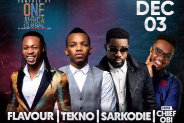 Flavour, Tekno, Sarkodie To Perform @ 1Music 1Sound | The Arena Theatre, Houston, TX | Sunday, Dec 3!
