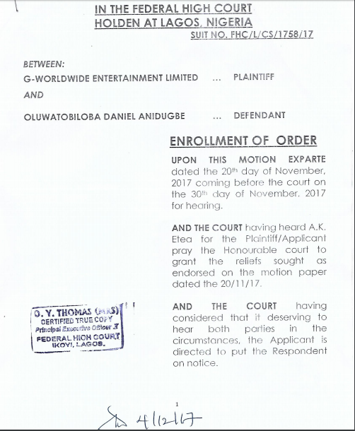 G-WorldWide Entertainment Sues Kiss Daniel For Breach Of Contract!