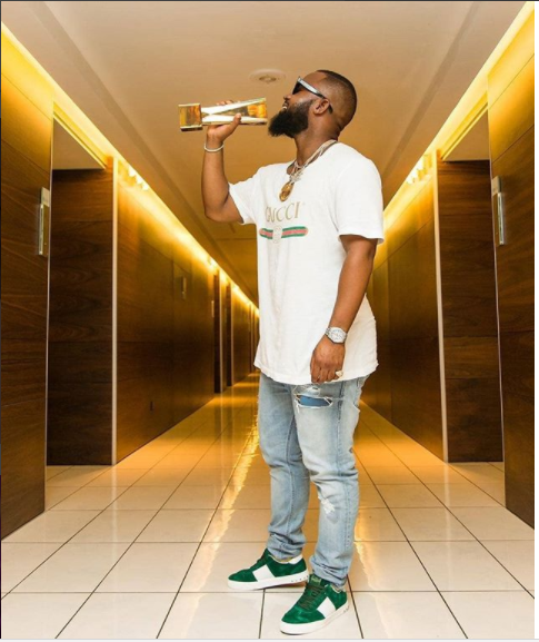 Cassper Nyovest, Winner for Best Hip-hop artiste in Africa at the Soundcity MVP Awards Festival