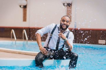 Kcee Announces New Single With Series of WET Photos