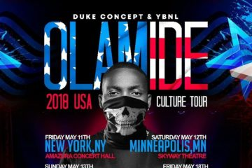 Olamide Set For USA Culture Tour 2018 | View Schedule