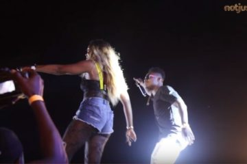 NotjustOk: Tiwa Savage & Reekado Banks Surprise Fans At #GidiFest2018