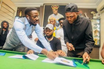 """Welcome To DMW…"" Davido Signs Idowest To Record Label"