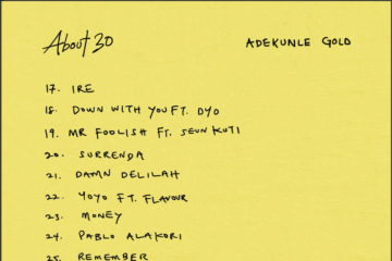 Adekunle Gold Set To Release #About30 Album | View Tracklist