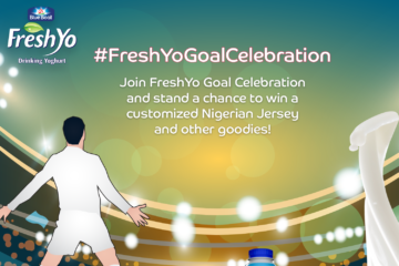 Be a Part of FreshYo Goal Celebration and Win a Customized Nigerian Jersey and lots of FreshYo