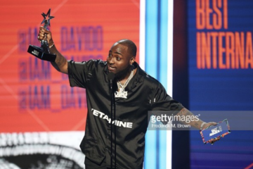 Davido Wins Best International Act Award At The BET Awards