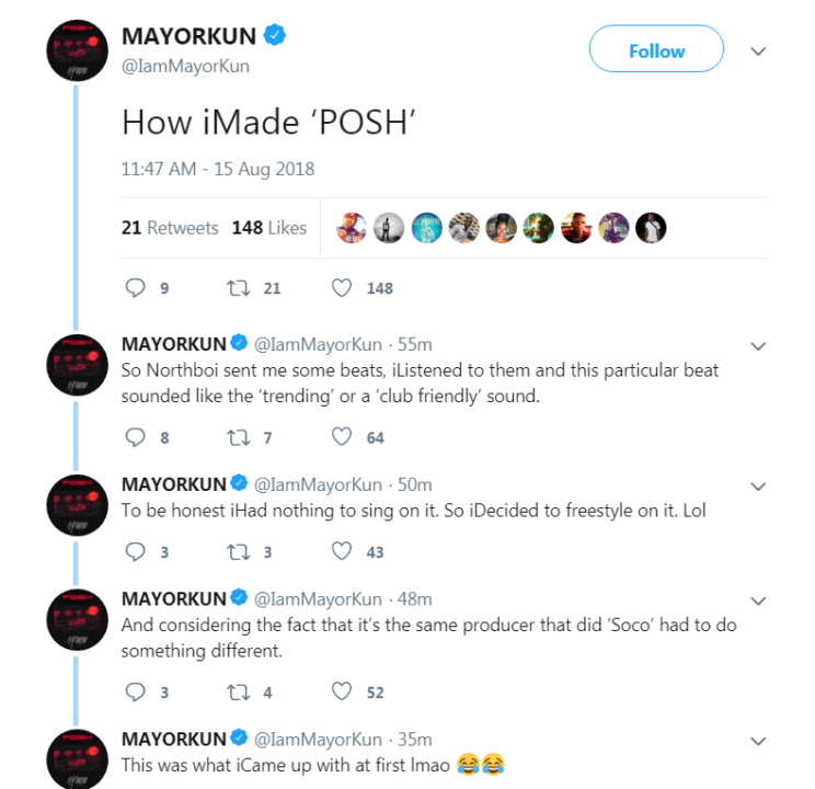 This Is Why You Think Mayorkun's POSH Sounds Like 'Soco