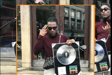 "Burna Boy Receives ""Sold-Out"" Plaque From O2 Academy, Brixton"