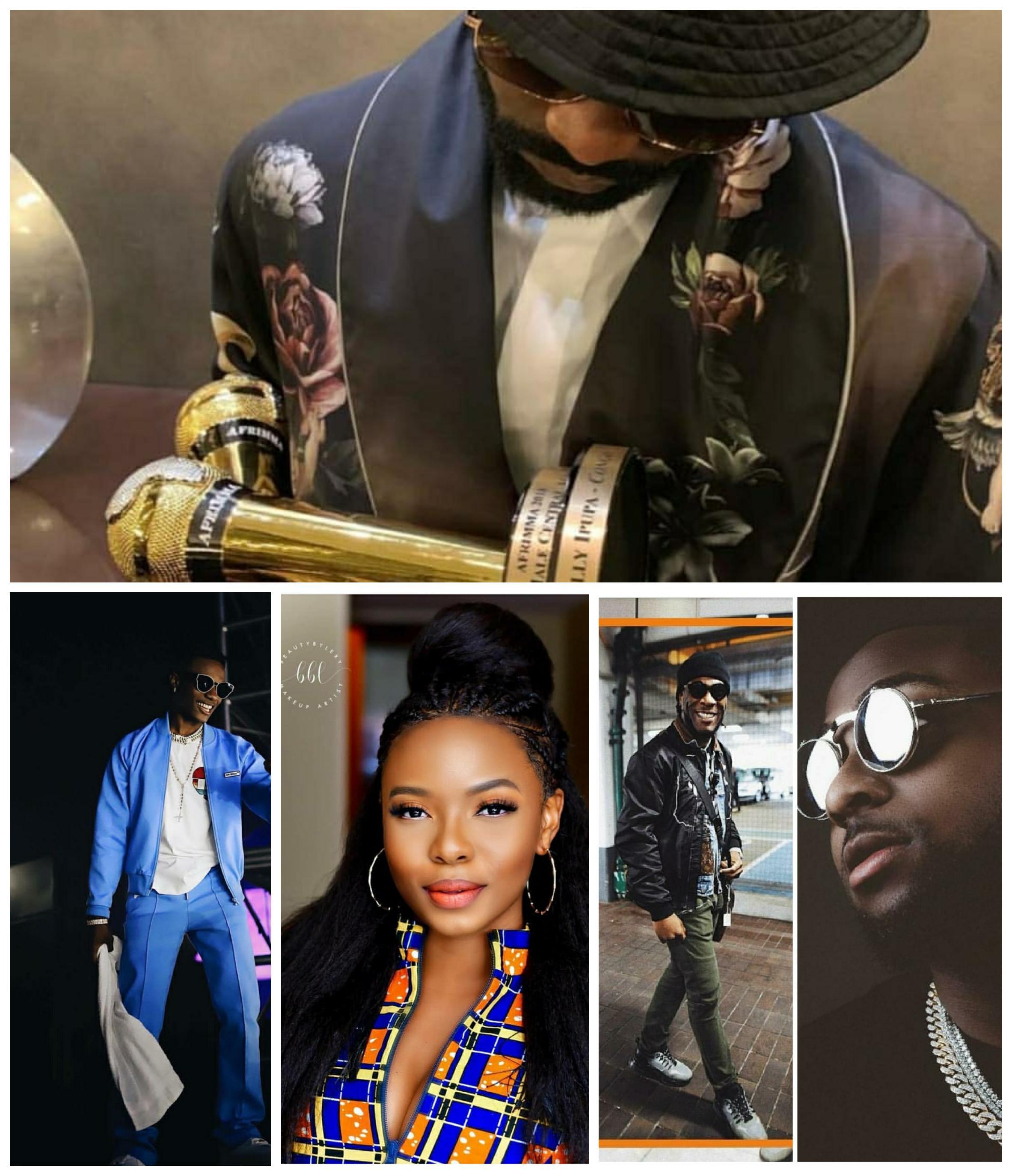 Fally Ipupa, Wizkid, Yemi Alade, Burna Boy & Davido Win Big At AFRIMMA 2018