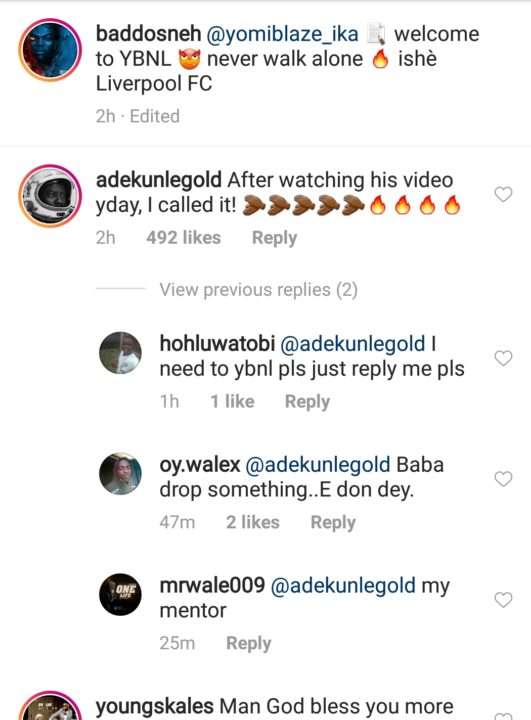 Olamide Signs Another Artiste, Yomi Blaze Into YBNL - Notjustok
