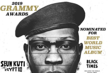 "Seun Kuti's ""Black Times"" Officially Nominated For 2019 Grammy Awards, See Full List"