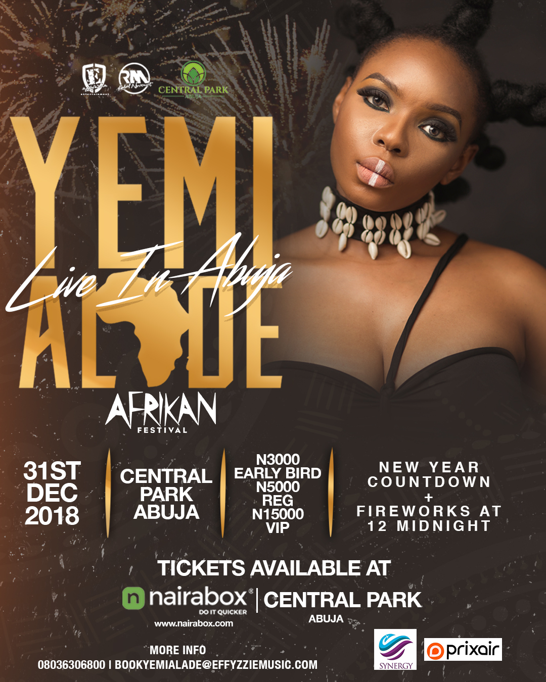"""Yemi Alade – To Rock Abuja on the 31st of December with """"Afrikan Fest"""" Concert & Fireworks"""