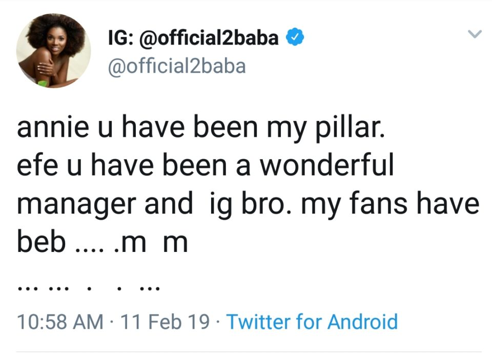 """I'm sorry ... I have Fucked up As a Father..."" -2BABA Apologies To Wife + More Info"