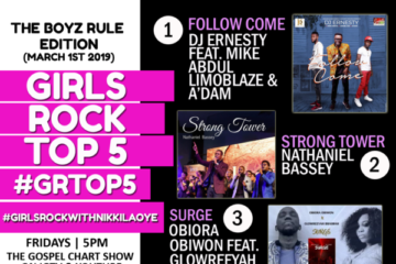 VIDEO: #GRTop5 Chart Show With Nikki Laoye – The Boyz Rule Edition
