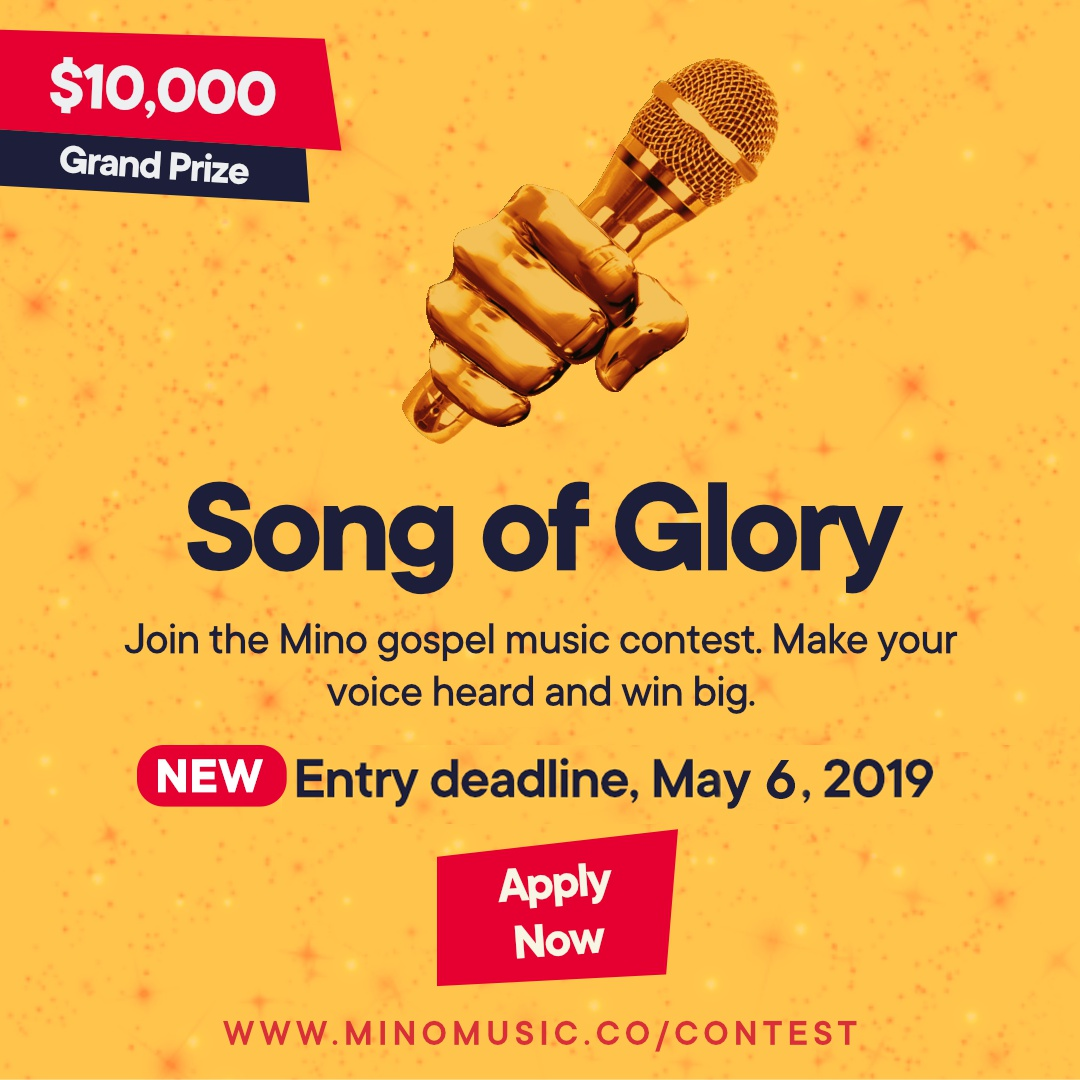 Mino Gospel Contest Submission Deadline Extended to May 6