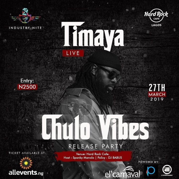 Timaya Live On Industry Nite