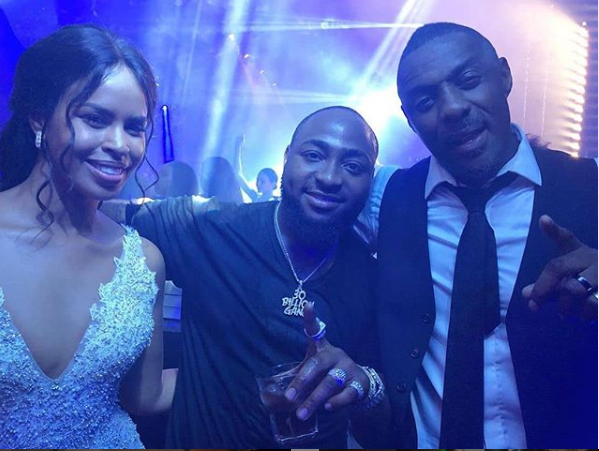 Sabrina, Davido and Idris Elba