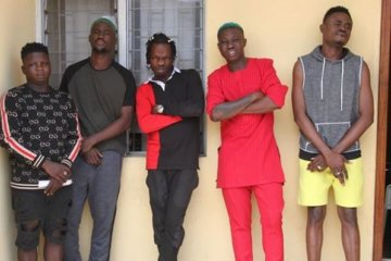 Naira Marley, Zlatan Ibile and others at the EFCC station