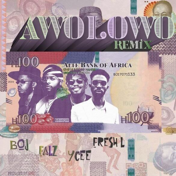 BOJ - Awolowo (Remix) ft. Falz, Ycee & Fresh L