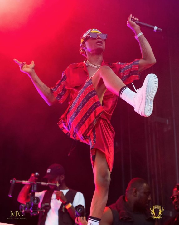 Performance: Wizkid's Mad Entrance With Joro + His Acapella Of Brown Skin Girl