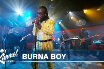 Burna Boy Performs On Jimmy Kimmel Live | WATCH!