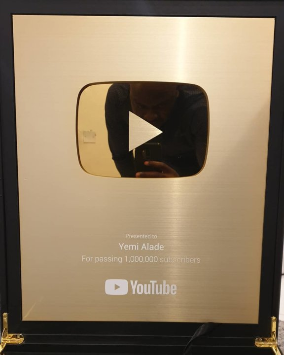 Yemi Alade's YouTube Golden Play Button
