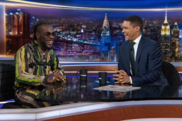 Trevor Noah hosts Burna Boy on the daily show