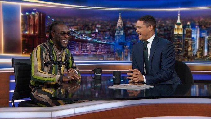 Trevor Noah Hosts Burna Boy On Daily Show  👌