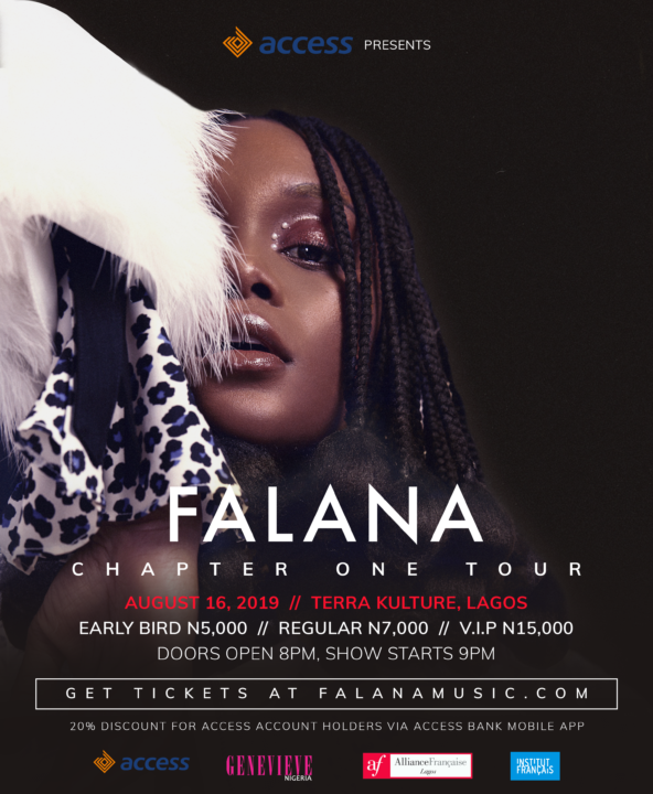 Falana Embarks On First Continental Tour; 4 Cities, 4 Incredible Nights, 1 Phenomenal Artiste.