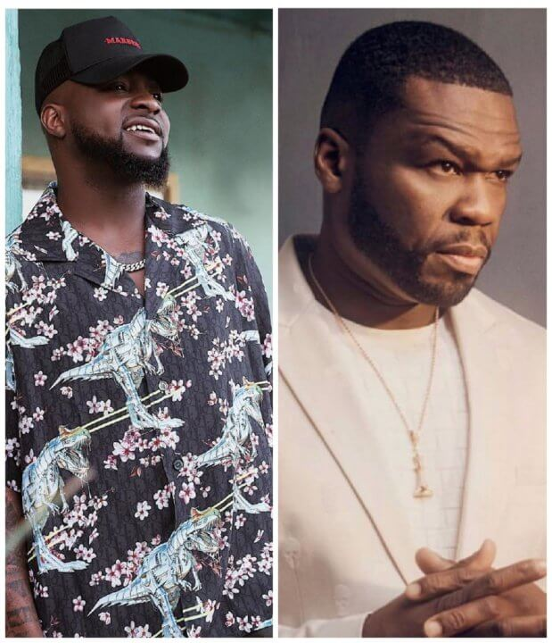Davido performs with 50 Cent