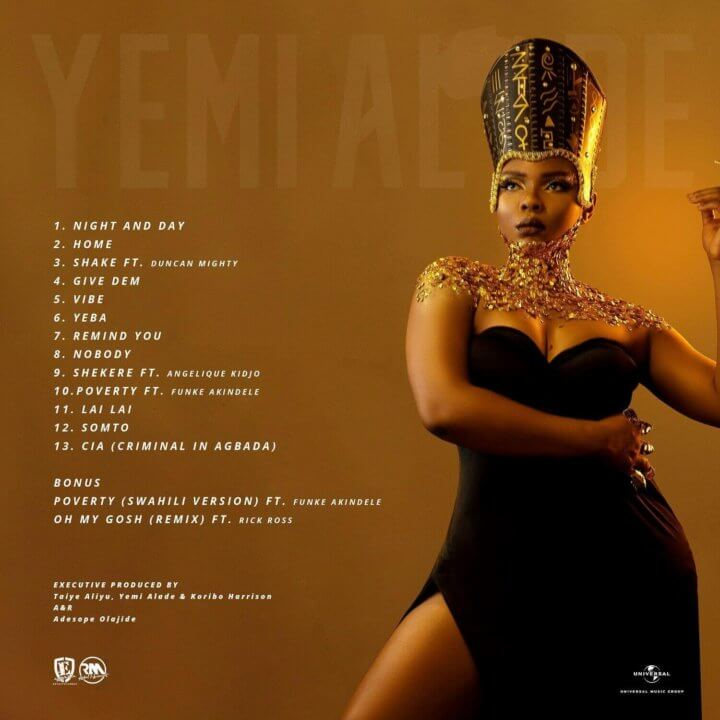 Yemi Alade - Woman Of Steel (Tracklist)