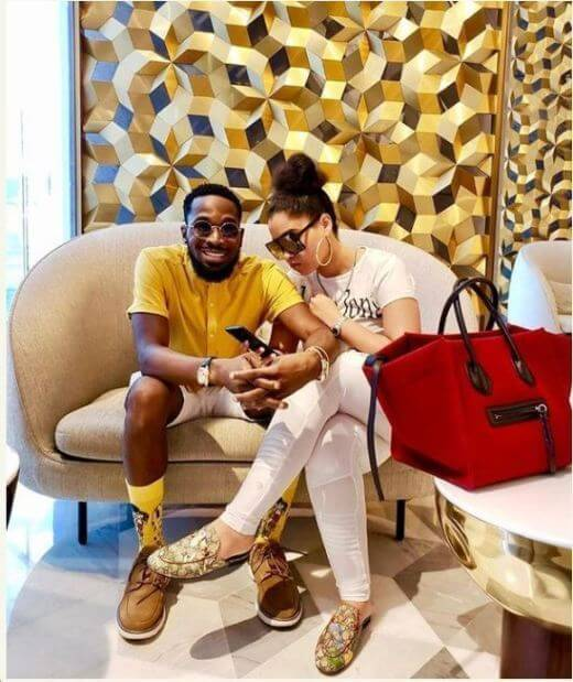 Dbanj and wife Lineo Didi Kilgrow