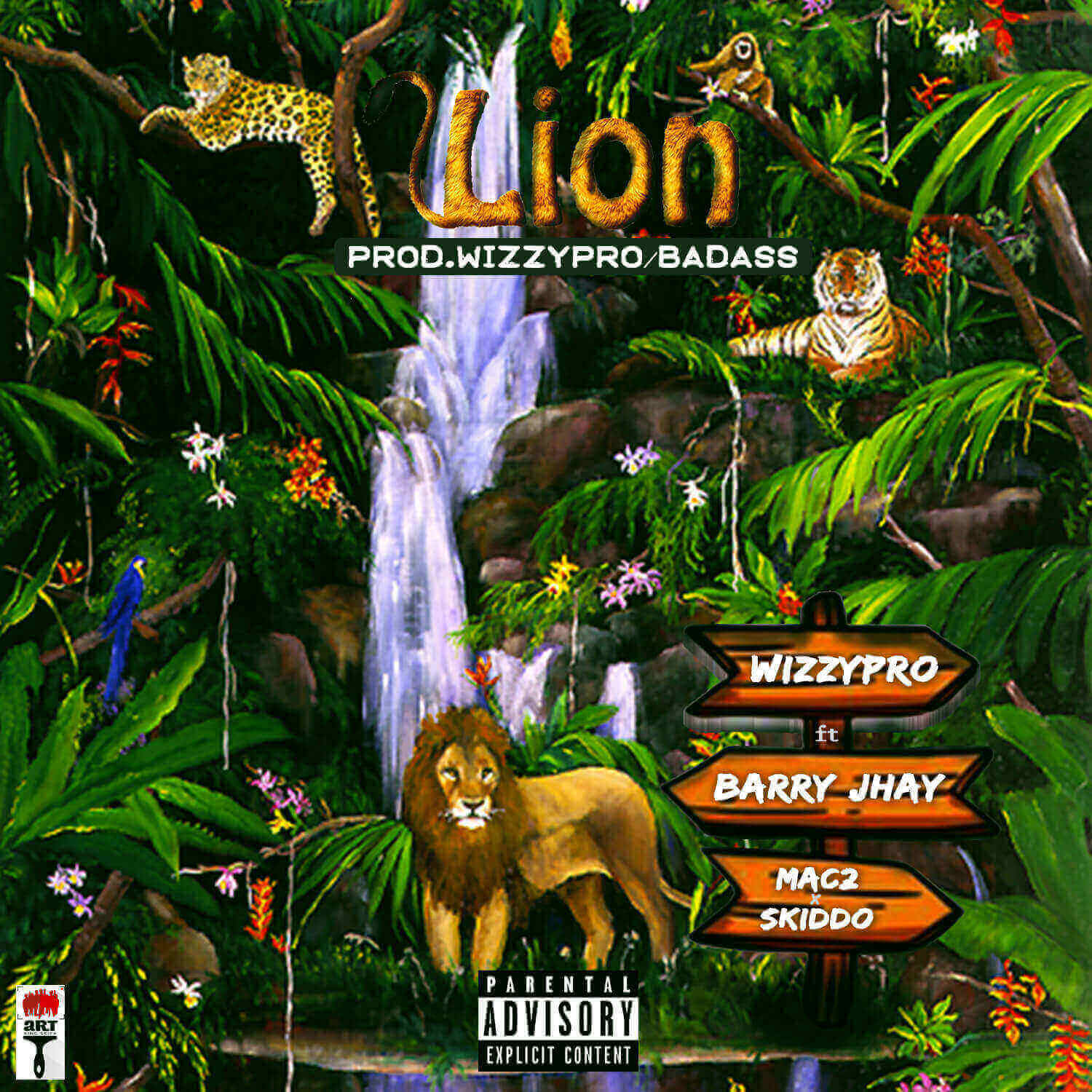 WizzyPro - Lion ft. Barry Jhay, Mac 2 & Skido