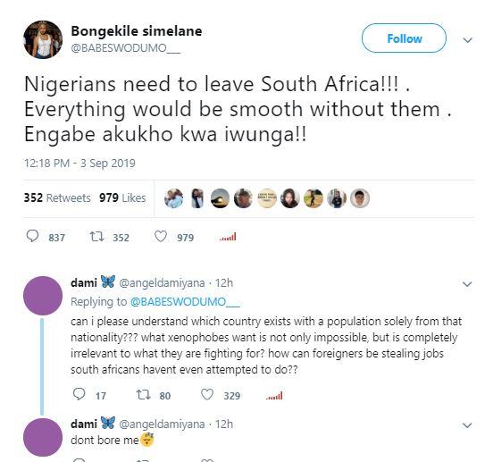 Xenophobia Babe Wodumo
