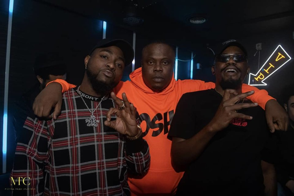 Davido, Berry and Ycee at Album Listening in London
