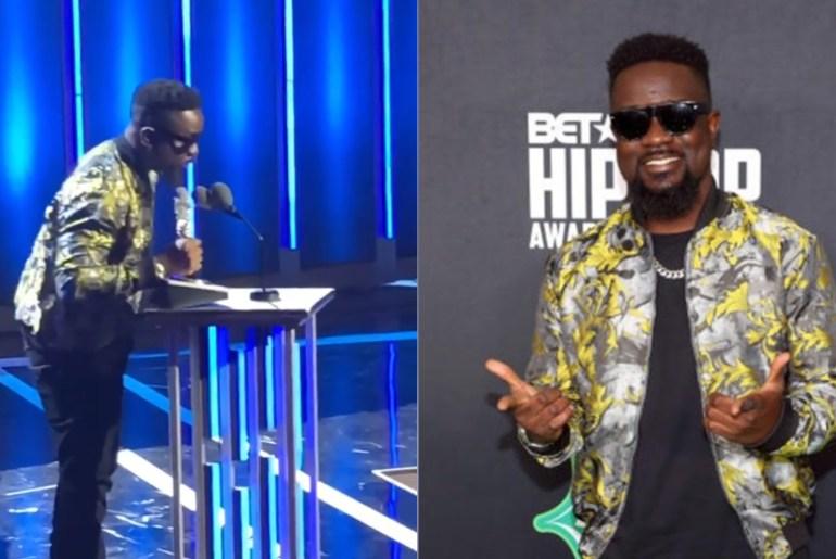 "Sarkodie Becomes The First ""Best International Flow"" Winner At BET Hip-Hop Awards"